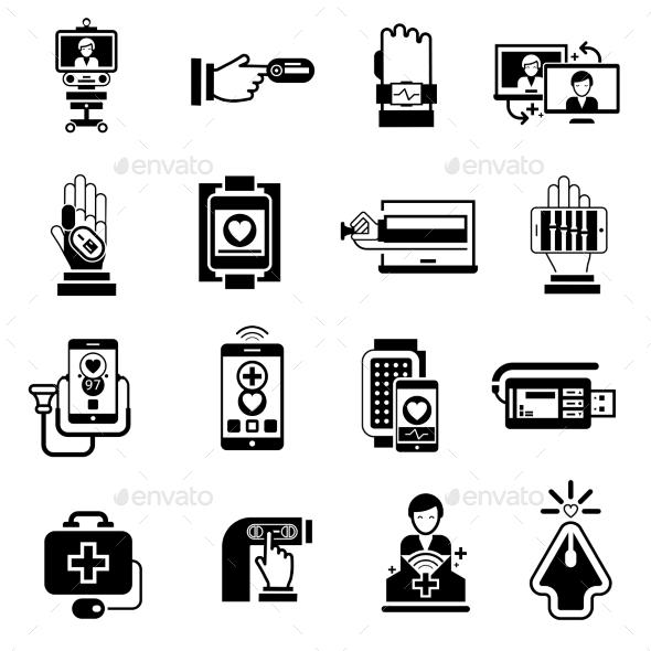 GraphicRiver Digital Medicine Icons 10751832