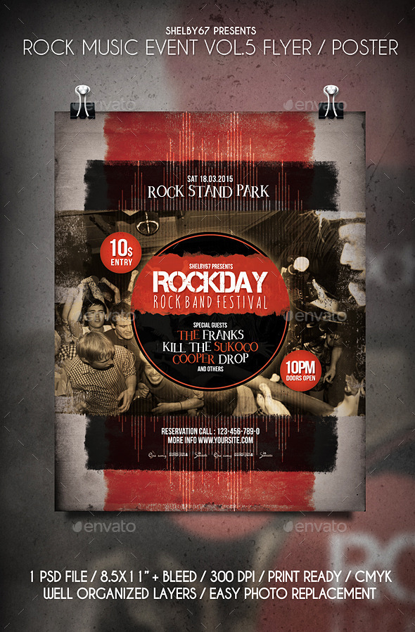 GraphicRiver Rock Music Event Flyer Poster Vol.5 10751837