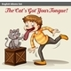 Cat Touching a Boy's Tongue - GraphicRiver Item for Sale