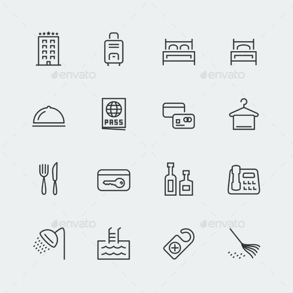 GraphicRiver Hotel Icons 10752038