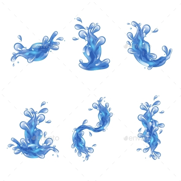 GraphicRiver Water Splash Set 10752058