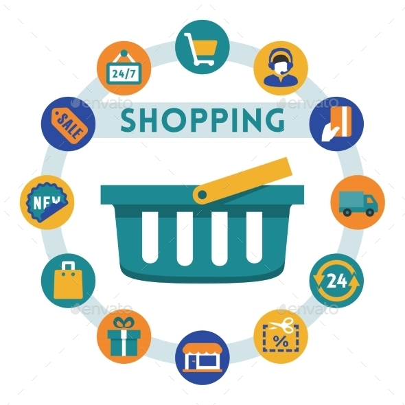 GraphicRiver Shopping Icons 10752064