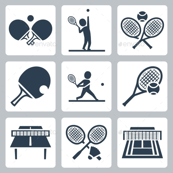 GraphicRiver Tennis Icons 10752071