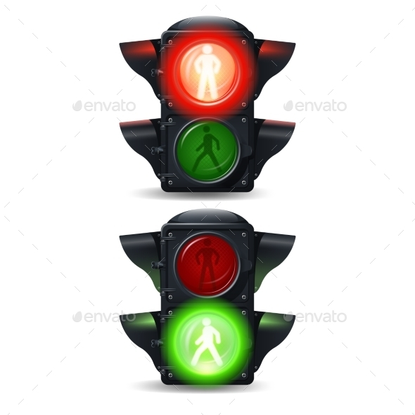 GraphicRiver Pedestrian Traffic Lights Set 10752640