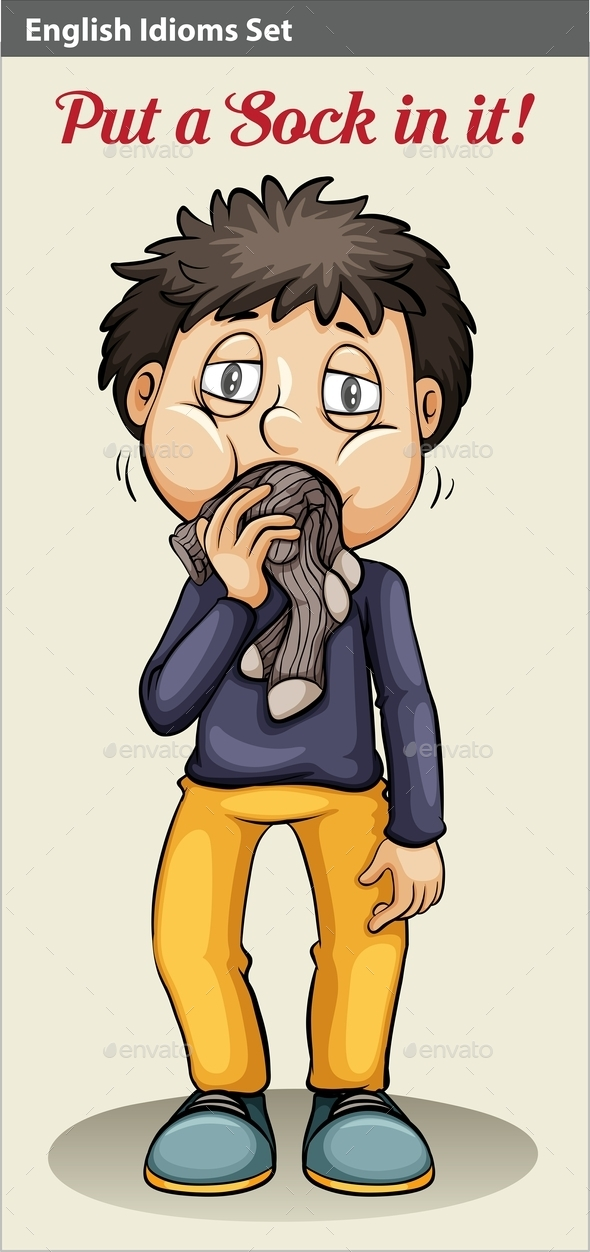 GraphicRiver A Man Eating his Socks 10752927