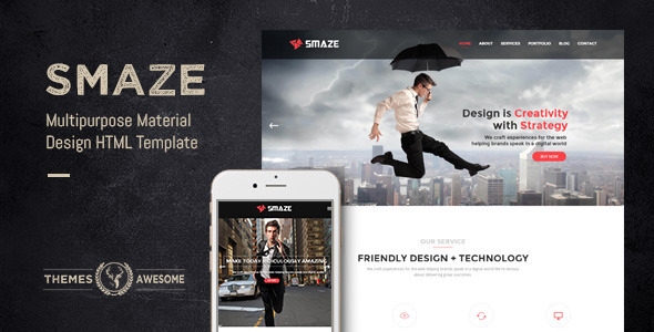 ThemeForest Smaze Multipurpose Material Design HTML Template 10699932