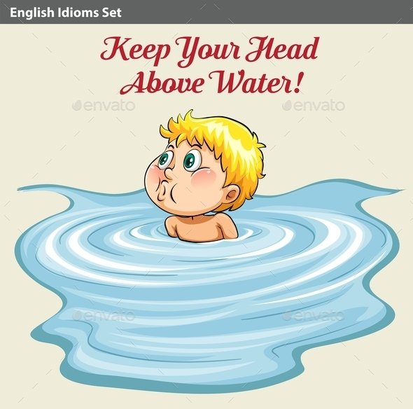 GraphicRiver Man Keeping His Head Above the Water 10752999