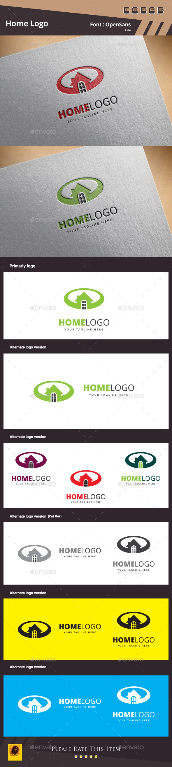 GraphicRiver Home Logo Template 10753059