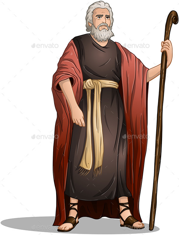 GraphicRiver Moses From Bible For Passover 10753081