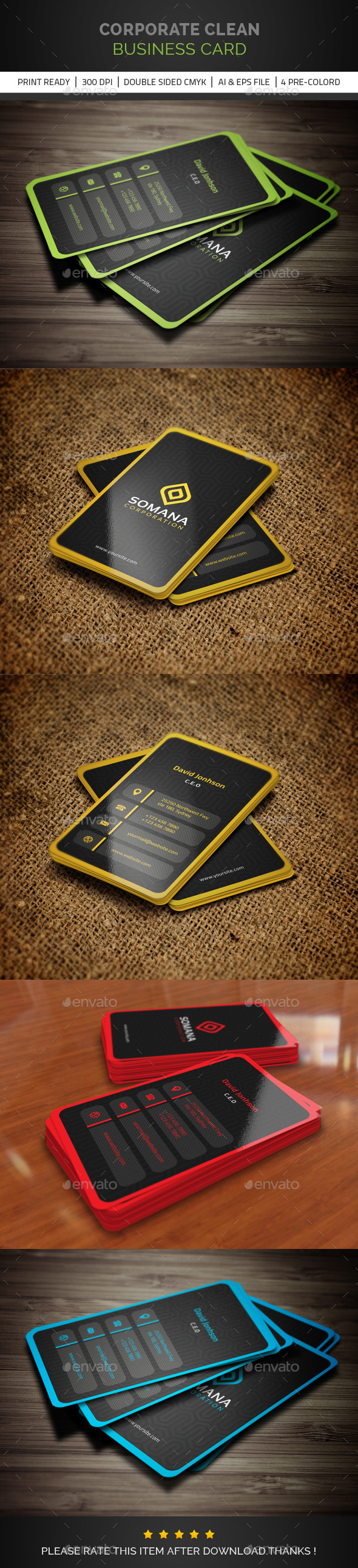 GraphicRiver Corporate Clean Business Card V 03 10753148