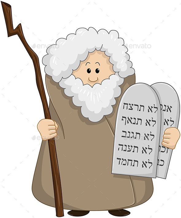 GraphicRiver Moses Holding the Ten Commandments 10753198