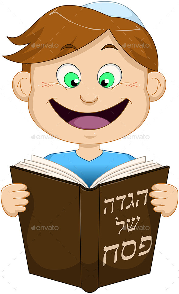 GraphicRiver Boy Reading from Haggadah for Passover 10753255
