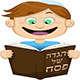 Boy Reading from Haggadah for Passover - GraphicRiver Item for Sale