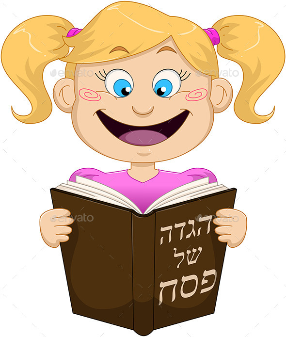 GraphicRiver Girl Reading from Haggadah for Passover 10753266