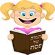 Girl Reading from Haggadah for Passover - GraphicRiver Item for Sale