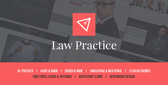 ThemeForest Law Practice Lawyer & Attorney PSD Template 10702048