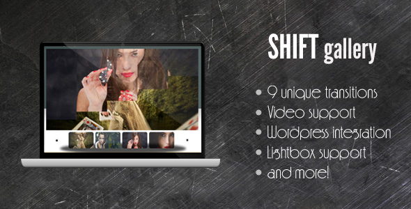 CodeCanyon SHIFT Gallery support for image div video swf 114333