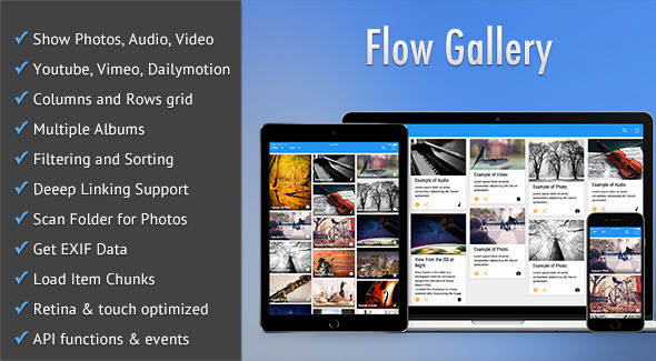 Gallery Flow - HTML5 Multimedia Gallery