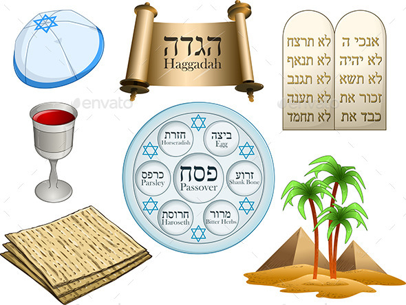 GraphicRiver Passover Symbols Pack 10753430
