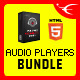 HTML5 Responsive Audio Players Bundle