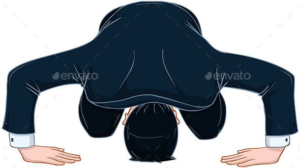 GraphicRiver Man in Suit Bows and Apologizes 10753469