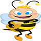 Drooling Bee Holds Honey Jar - GraphicRiver Item for Sale