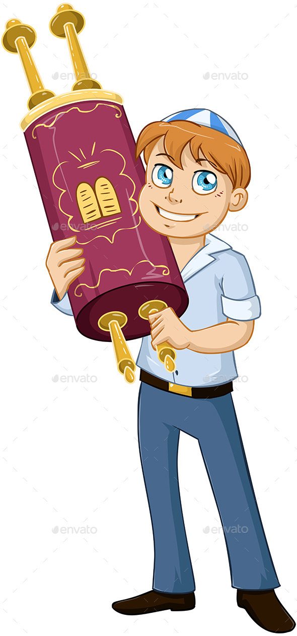 GraphicRiver Jewish Boy Holds Torah for Bar Mitzvah 10753484