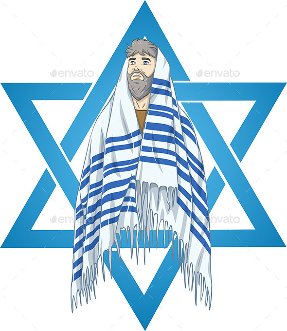 GraphicRiver Star of David Rabbi With Talit 10753488