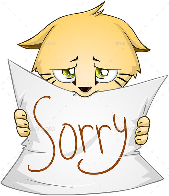 GraphicRiver Kitten Holds Sign of Apology 10753509