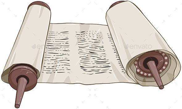 GraphicRiver Traditional Jewish Torah Scroll with Text 10753542