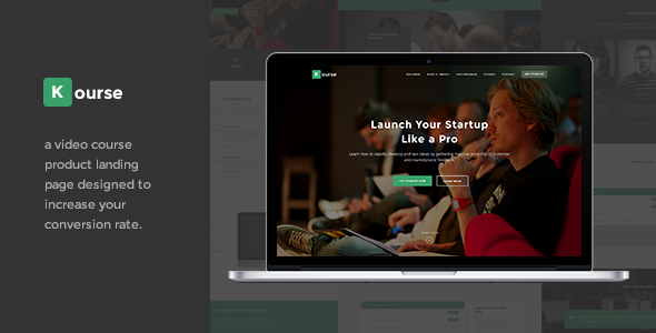 ThemeForest Kourse Video Course Landing Page Theme 10753605