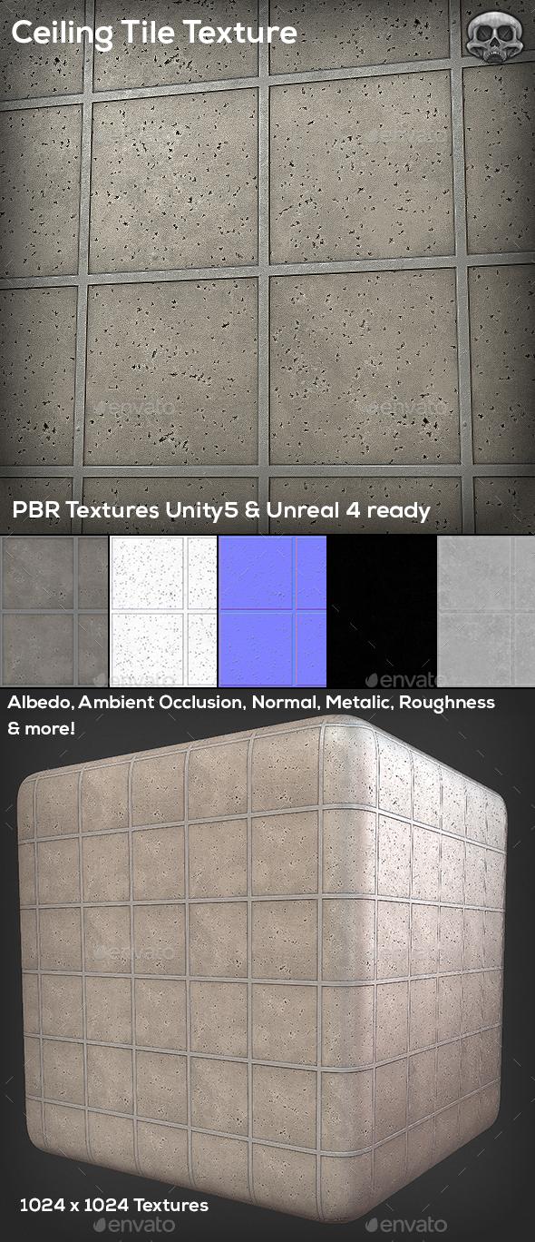 3DOcean Ceiling Tile Texture 10753657