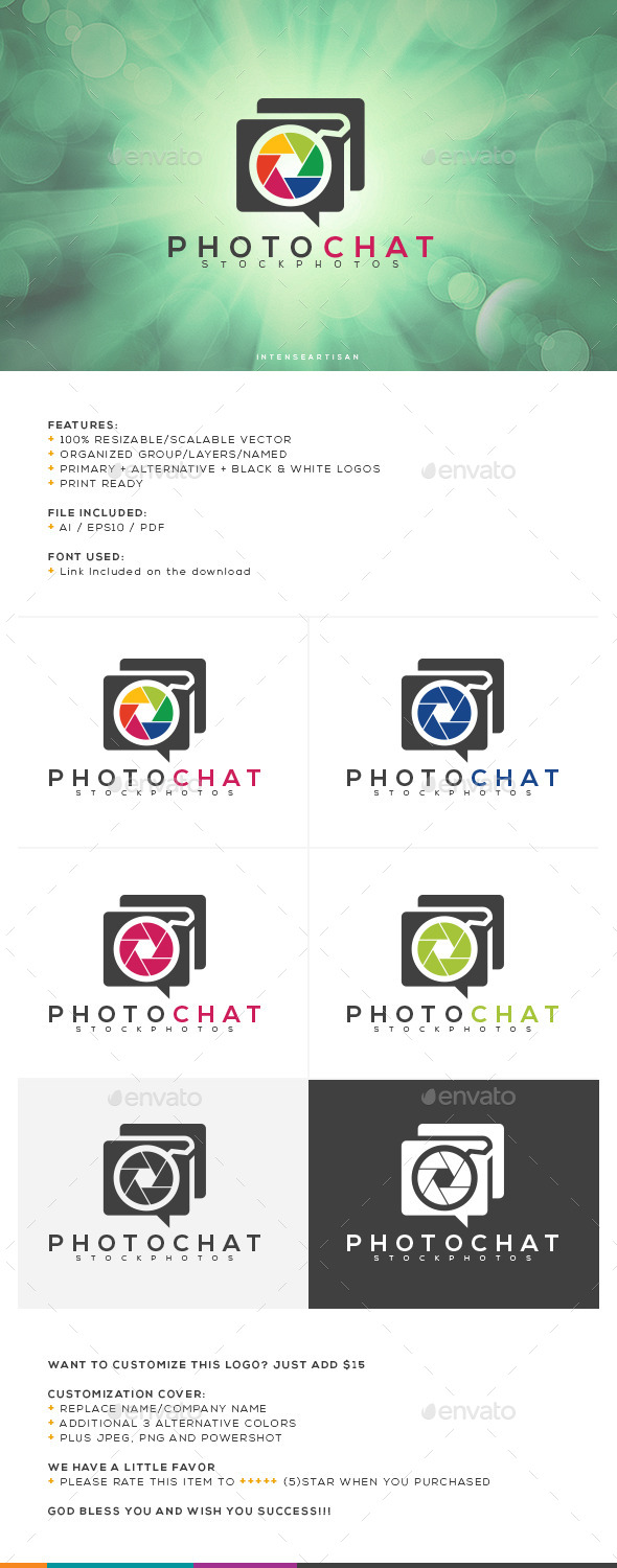 GraphicRiver Photo Chat Logo Template 10753756