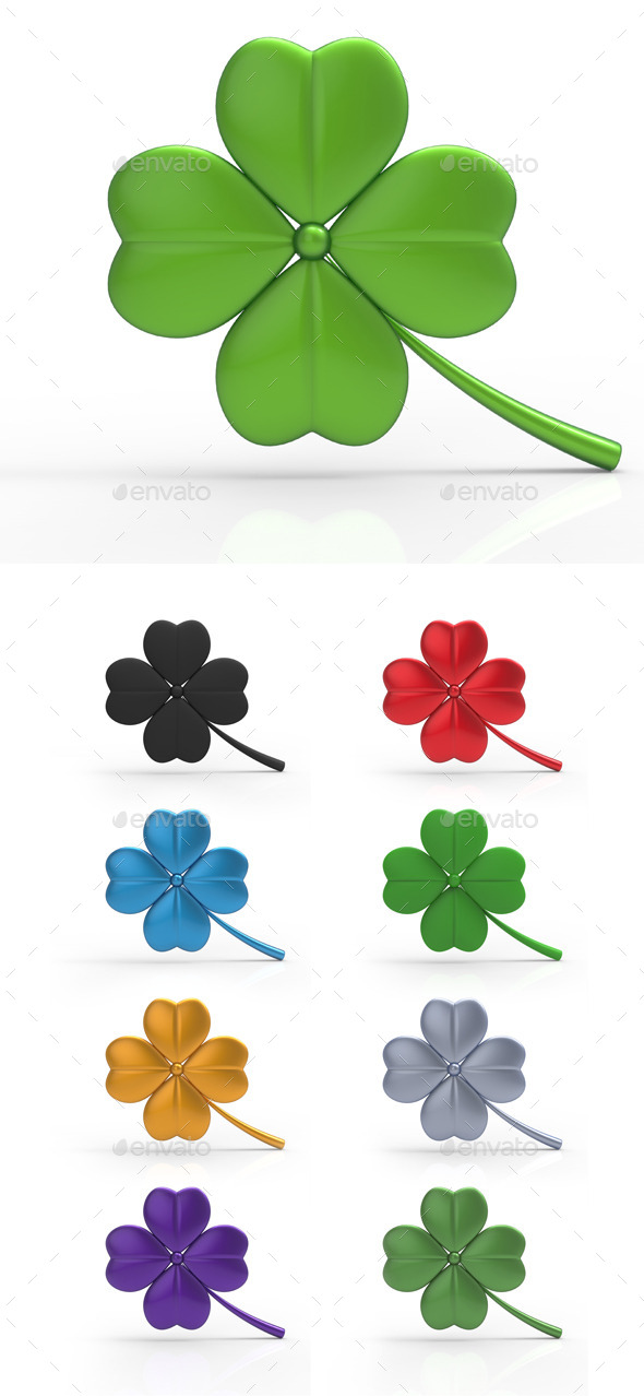 GraphicRiver St Patricks Day Clover 3D 10754391