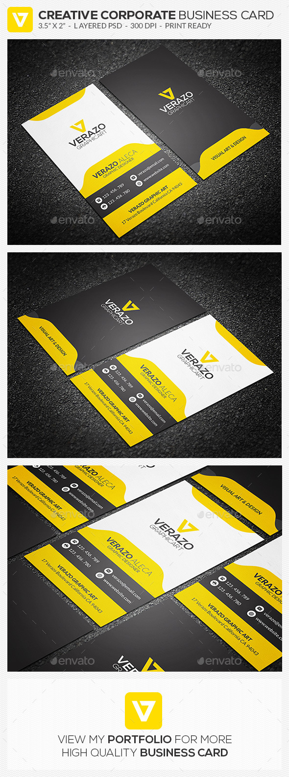 GraphicRiver Clean Corporate Business Card 76 10754492