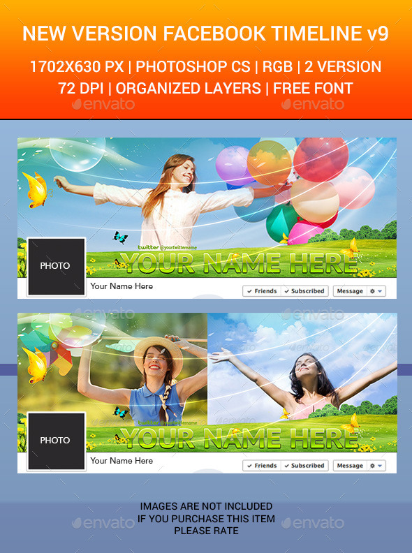GraphicRiver Facebook Timeline Cover v9 6500867