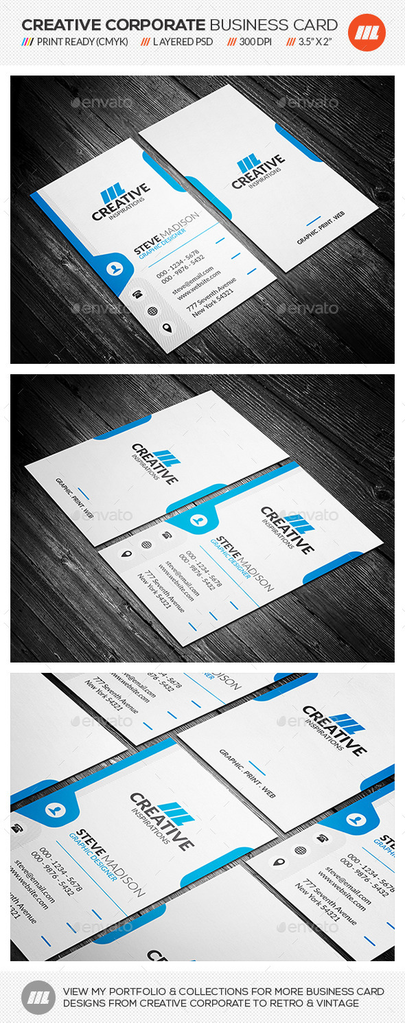 GraphicRiver Creative Corporate Business Card 10754639