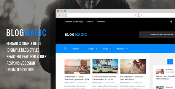 BlogMagic - Clean and Modern WordPress Blog Theme - Personal Blog / Magazine