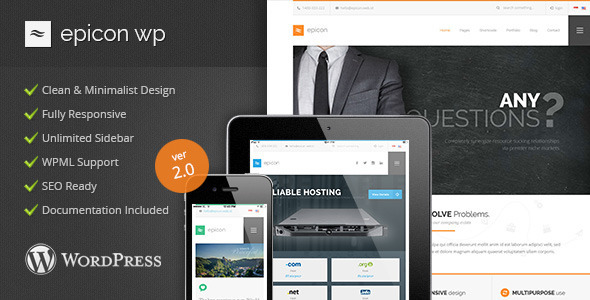 Epicon - Minimalist Multipurpose Wordpress Theme