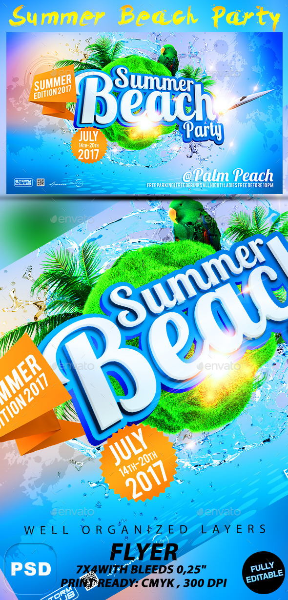 GraphicRiver Summer Beach Party 10755019