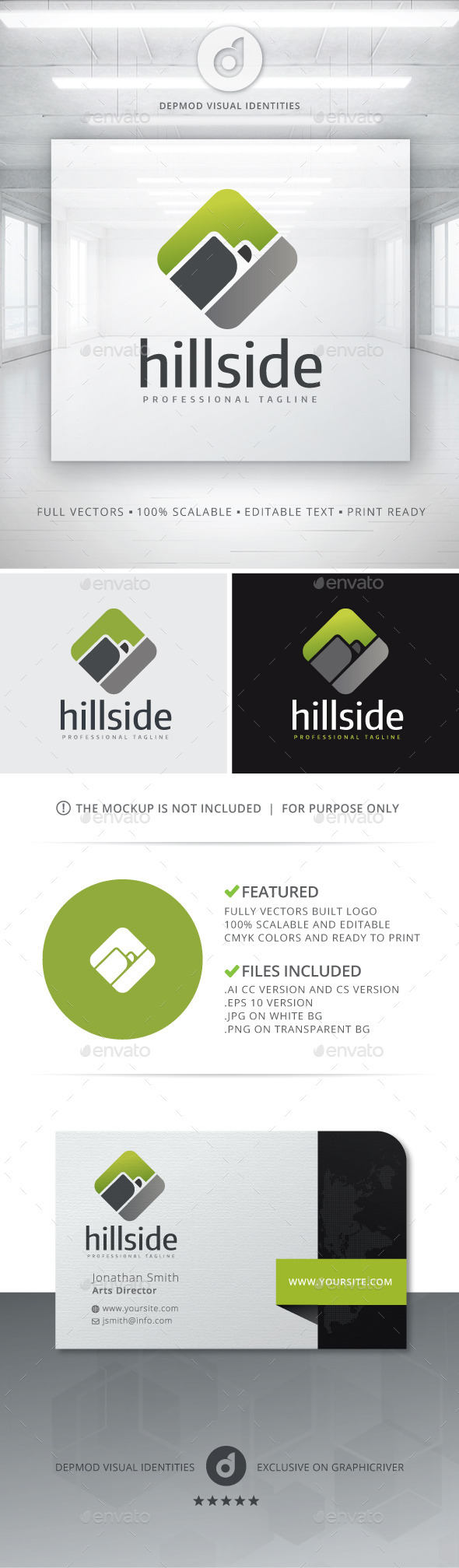 GraphicRiver Hill Side Logo 10755122