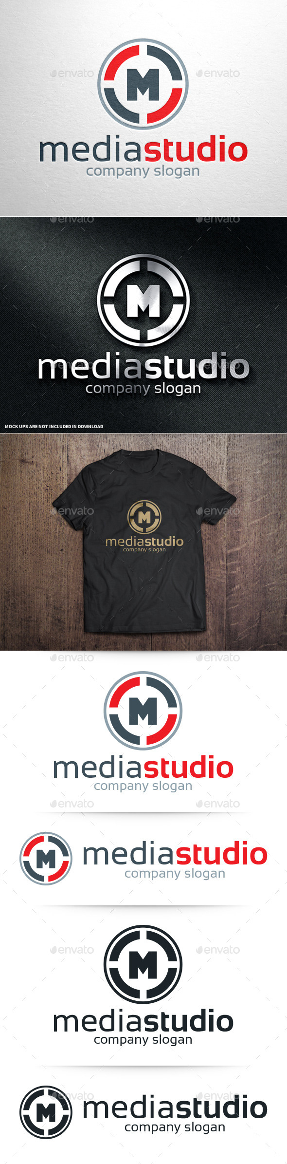 GraphicRiver Media Studio Letter M Logo 10755222