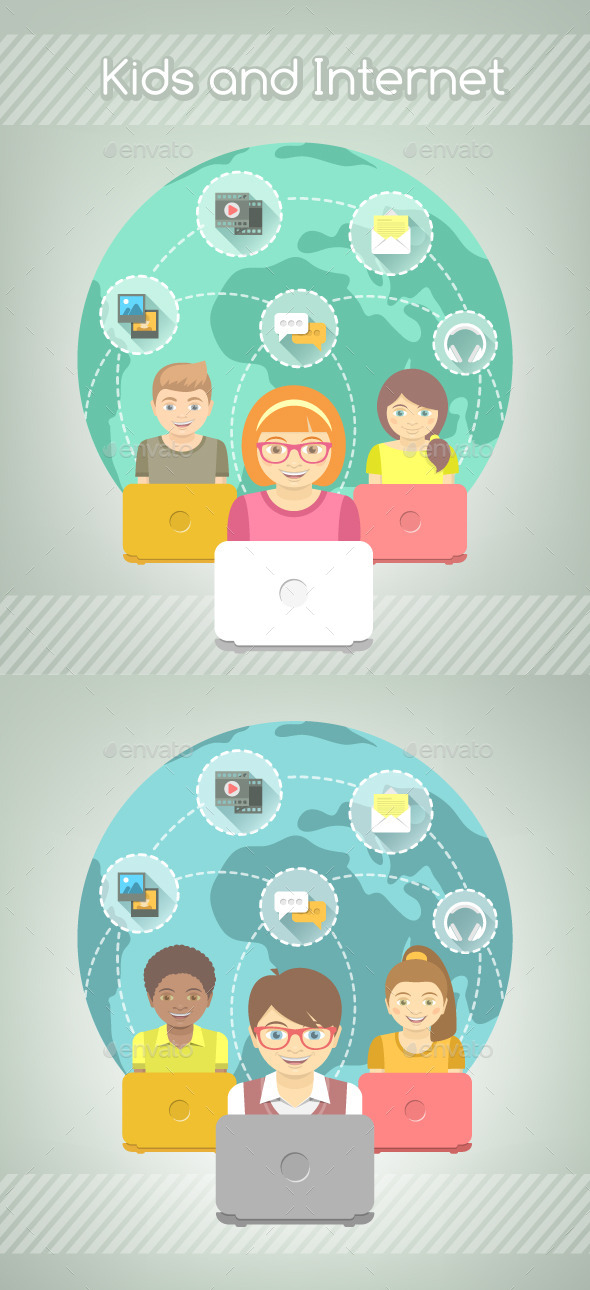GraphicRiver Kids and Internet 10755239