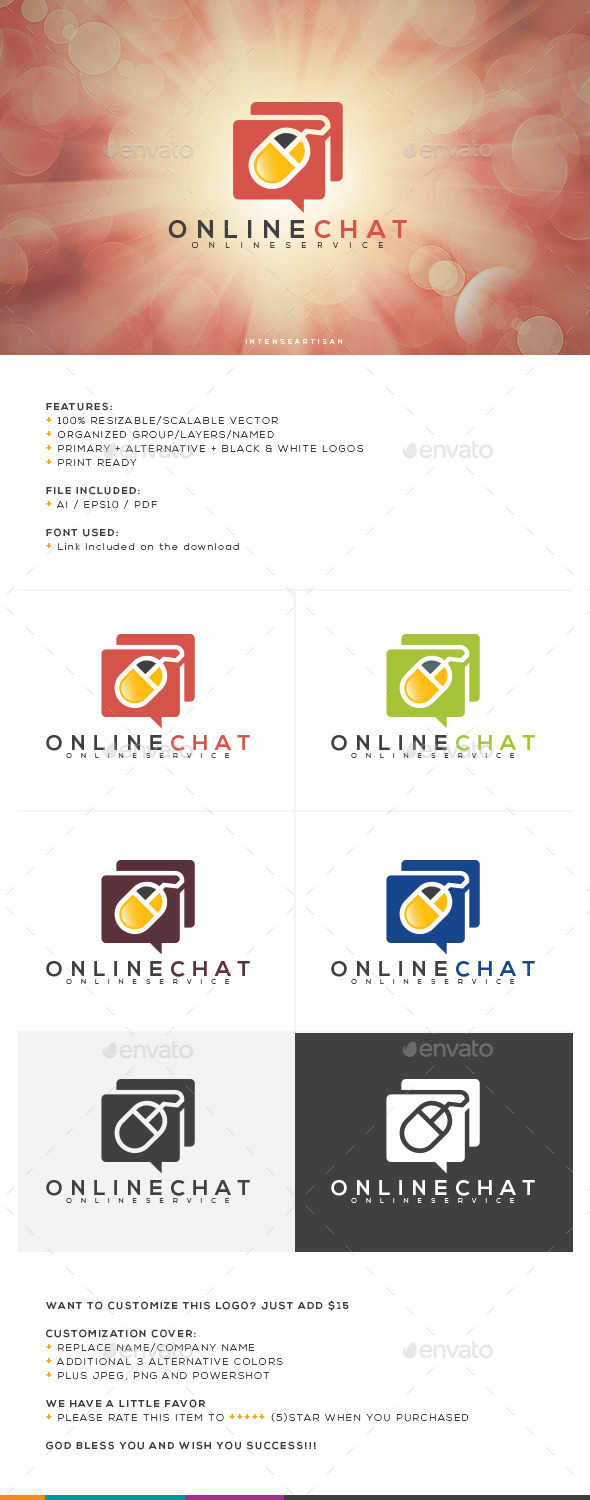 GraphicRiver Online Chat Logo Template 10755247