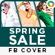 Spring Fashion Sale Facebook Cover - GraphicRiver Item for Sale