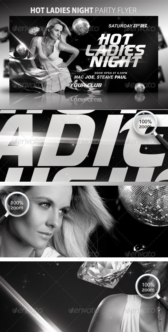 Hot Ladies Night Party Flyer - Clubs & Parties Events