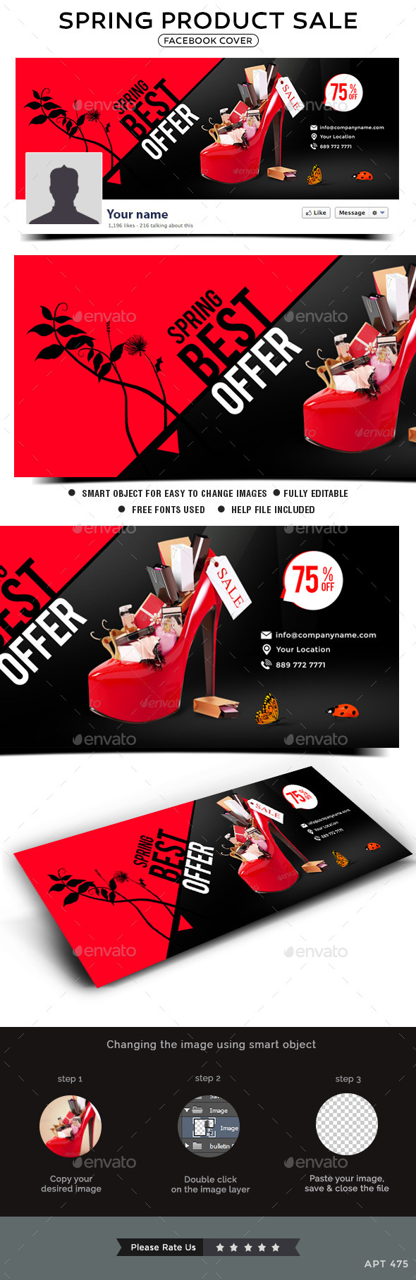 GraphicRiver Spring Sale Facebook Cover 10755305