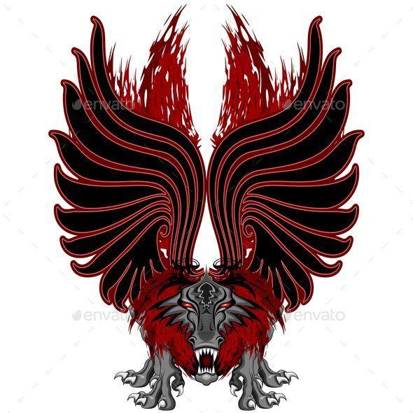 GraphicRiver Dragon Gargoyle Tattoo Style 10755307