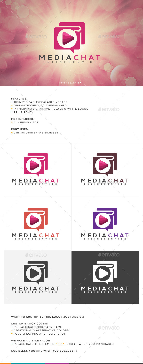 GraphicRiver Media Chat Logo Template 10755312