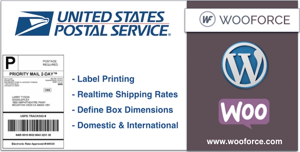 CodeCanyon USPS WooCommerce Shipping and Label 10755330